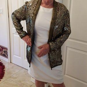 Lillie Rubin vintage bead & sequin smoking jacket
